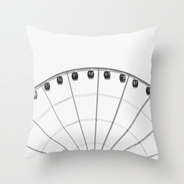 The wheel back white 1 Throw Pillow