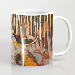 Tom Thomson ‑ Birch Grove, Autumn - Canada, Canadian Oil Painting - Group of Seven Coffee Mug
