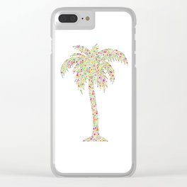 Palm Tree Floral Watercolor Clear iPhone Case
