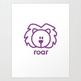 Lion : roar Art Print