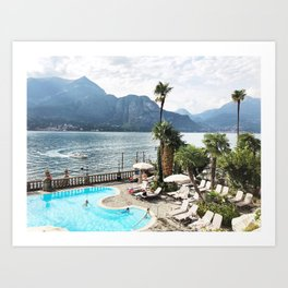 Lake como summers Art Print