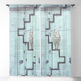 Time Rabbit Sheer Curtain