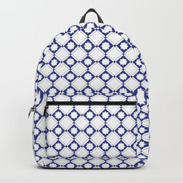 blue oriental pattern - seamless design orient style Backpack