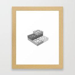 Bricks - Gray Framed Art Print