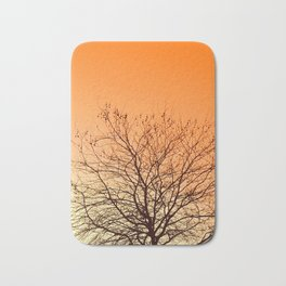 Tangerine sky Bath Mat