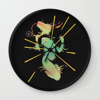 easter Wall Clocks featuring Easter. by Space Jungle