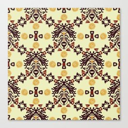 Tribal African mask ethnic Canvas Print