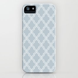 BlueGray Moroccan iPhone Case