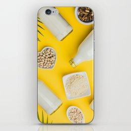 dairy free milk substitute drinks and ingredients iPhone Skin