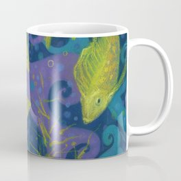 Golden Fishes, Blue &Yellow Coffee Mug