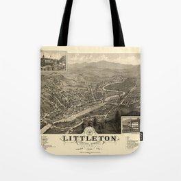 Map Of Littleton 1883 Tote Bag