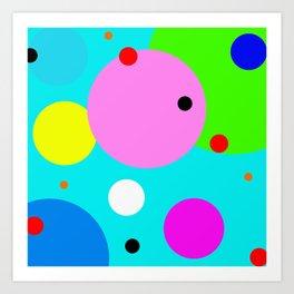 polka dots lasoffittadiste Art Print