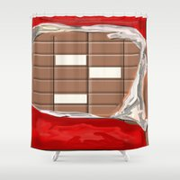 chocolate Shower Curtains featuring Chocolate by Dano77