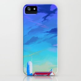 Cloudy Sky With Buffalo iPhone Case