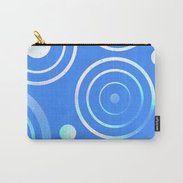 White Circles and Disks Carry-All Pouch