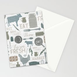 Modern Farmhouse // Gather Round & Give Thanks Stationery Cards