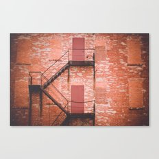 red brick, fire escape Canvas Print