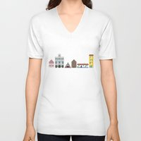 portugal V-neck T-shirts featuring Portugal by Jessica Triana