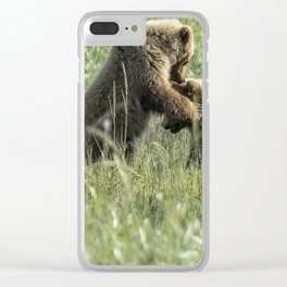 Brown Bear Cubs - The Provocation Clear iPhone Case