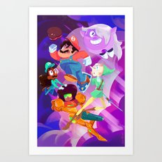 Super Steven Bros. Art Print