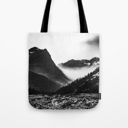 Mountain Valley Glacier National Park Tote Bag