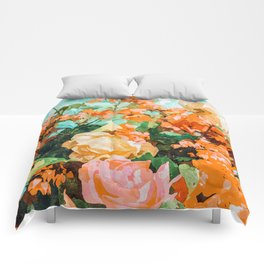 Blush Garden #painting #nature #floral Comforters