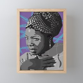 Maya Angelou- Portrait Framed Mini Art Print