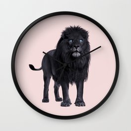 BLACK LION Wall Clock