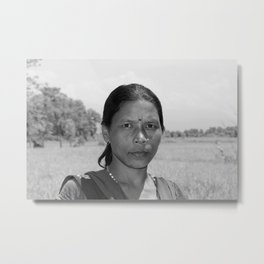 A Tharu Villager Metal Print