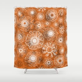 Fall flowers - orange Shower Curtain