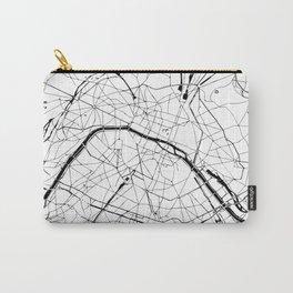 Paris Minimal Map Carry-All Pouch