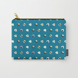 onigiri pattern in navy Carry-All Pouch