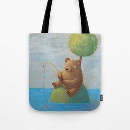 Fisherman Bear Tote Bag