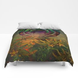 """""""A Psychedelic Forest"""" Comforters"""