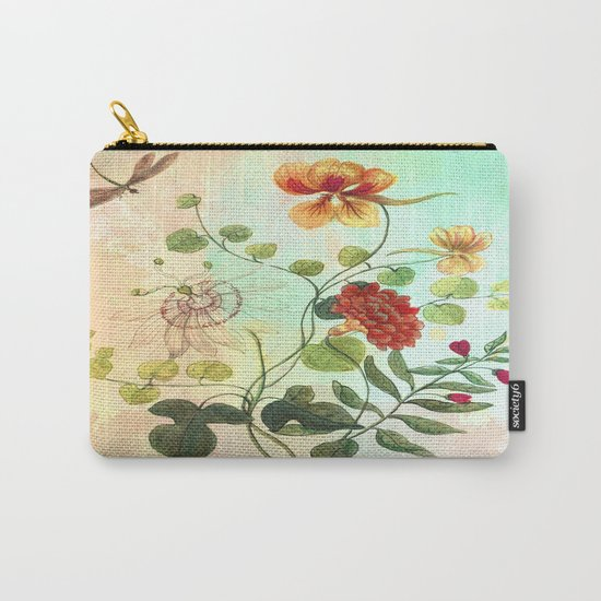 Simply Divine, Vintage Botanical Illustration Carry-All Pouch