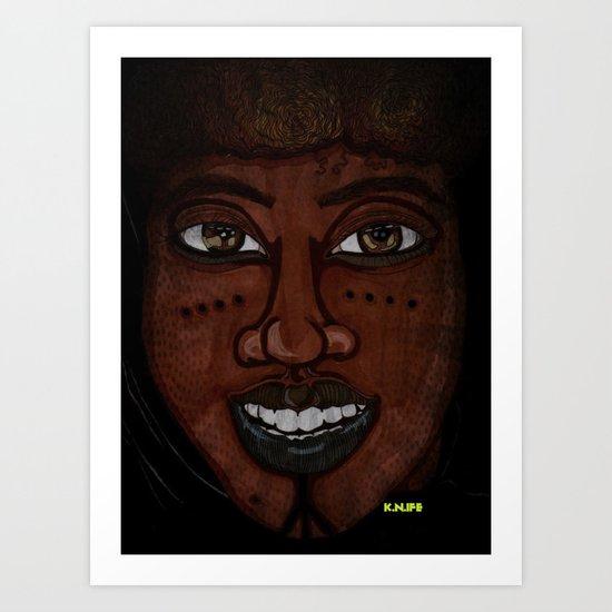 Afrikan Beauty Art Print