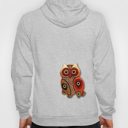 Retro Wood Owl Hoody