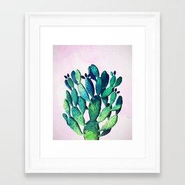 Cactus Three Ways #society6 #decor #buyart Framed Art Print