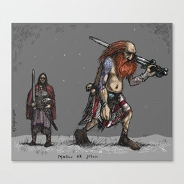 Jotun and human Canvas Print