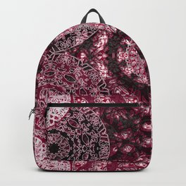 Claret Lace Mandalas Backpack