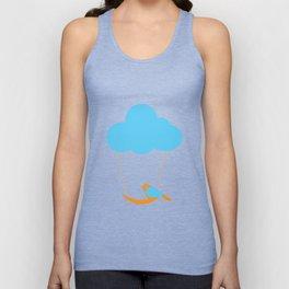 Cute bird and cloud Unisex Tank Top