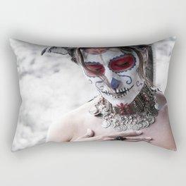 A Dia De Los Muertos Portrait Rectangular Pillow