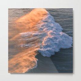 Crashing Ocean Waves Metal Print