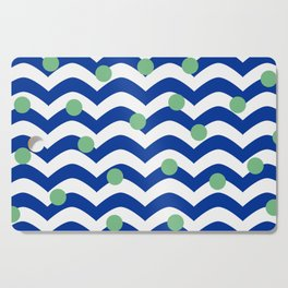 blue dotted waves Cutting Board