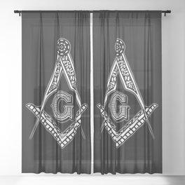 Freemason (Black) Sheer Curtain
