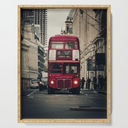 Vintage London Bus Serving Tray