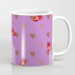Purple Heart Pattern Coffee Mug