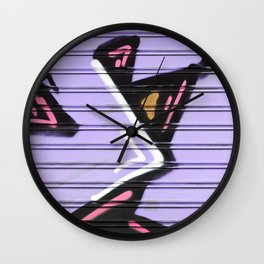 Street Art - Violet Urban Collection Wall Clock