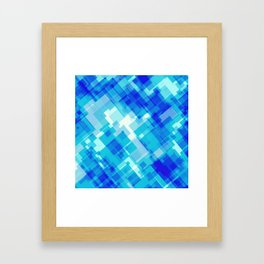 Digital Blue Pool Framed Art Print