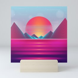 Vaporwave Sunset Mini Art Print